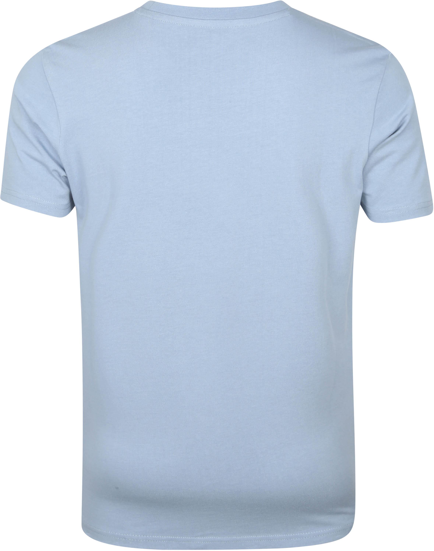 KnowledgeCotton Apparel T-shirt Alder Asley Blauw