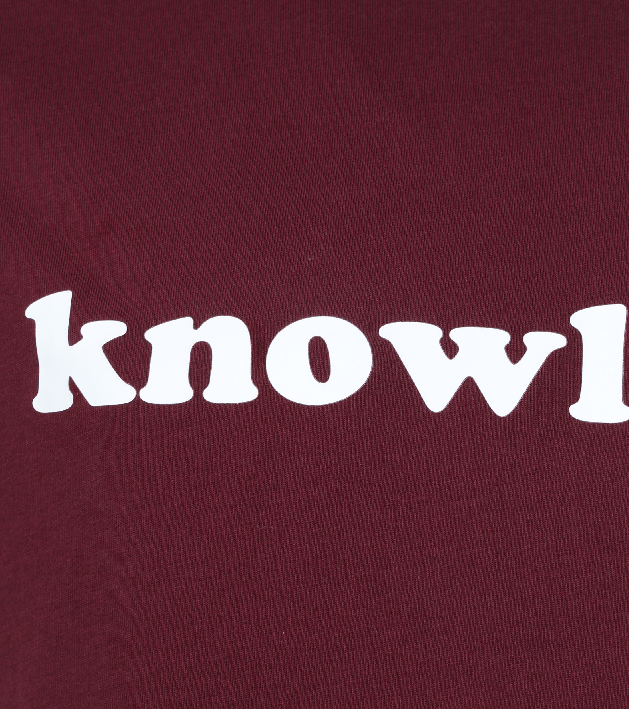 KnowledgeCotton Apparel T-shirt Paars