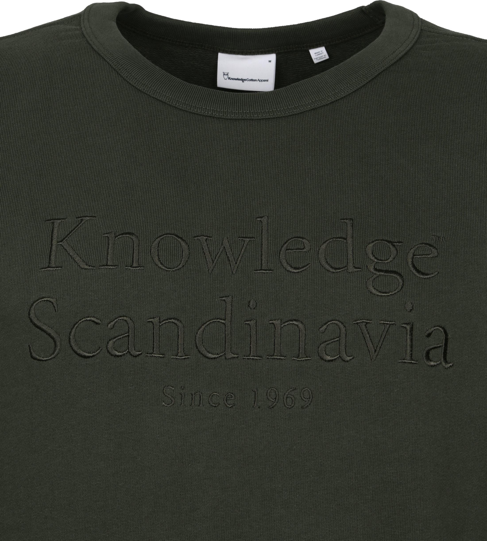 KnowledgeCotton Apparel Trui Elm Donkergroen