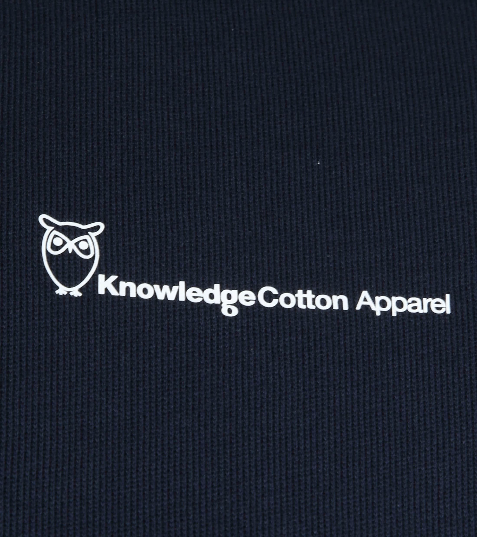 KnowledgeCotton Apparel Trui Navy Logo