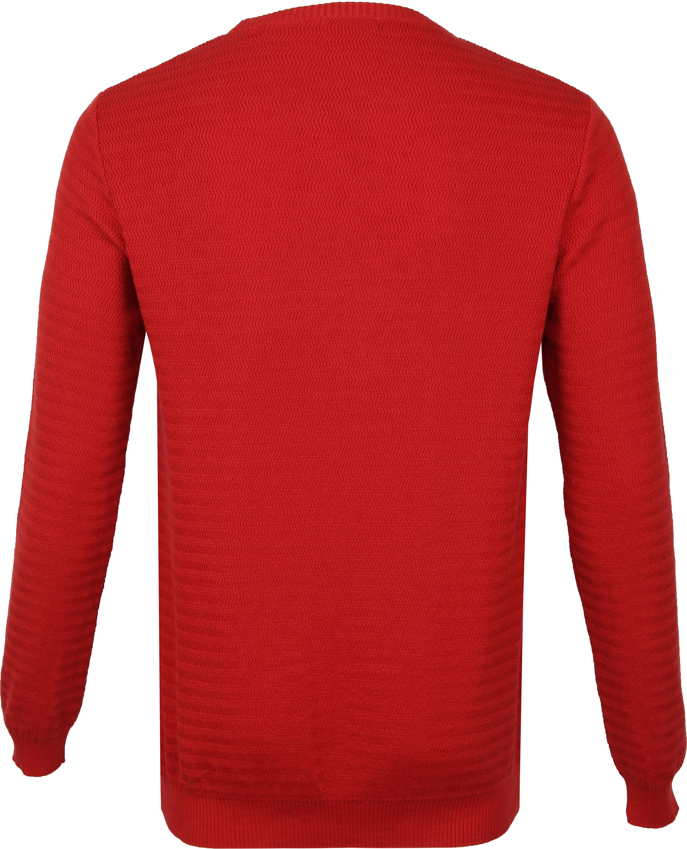 KnowledgeCotton Apparel Trui Waves Rood