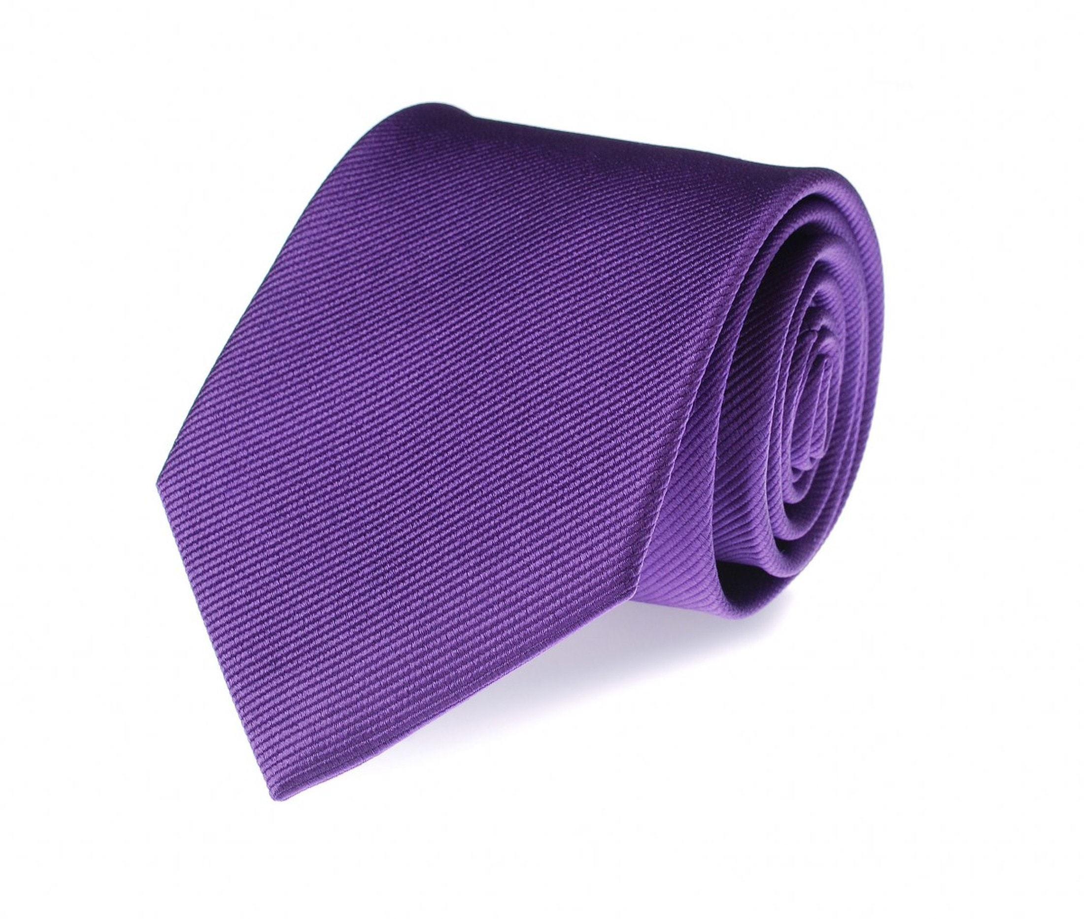 Krawatte Lila Seide Uni F30 foto 0
