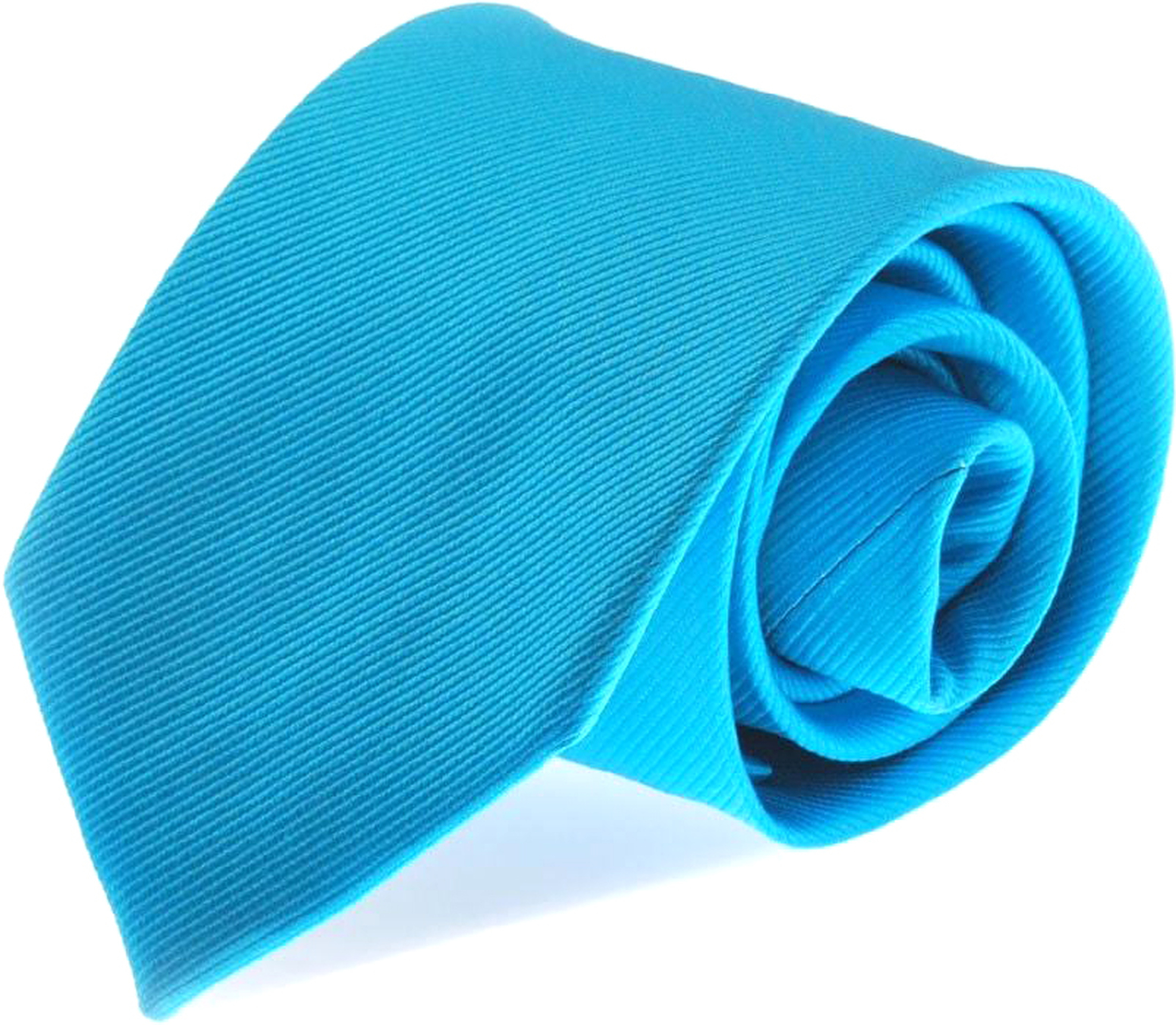 Krawatte Seide Aqua Blau Uni F24 foto 0