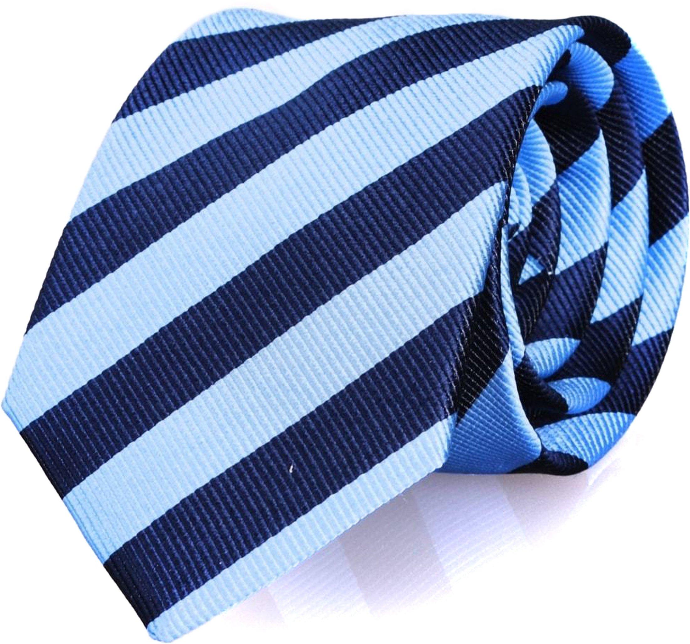 Krawatte Seide Blau Streifen FD13 Foto 0