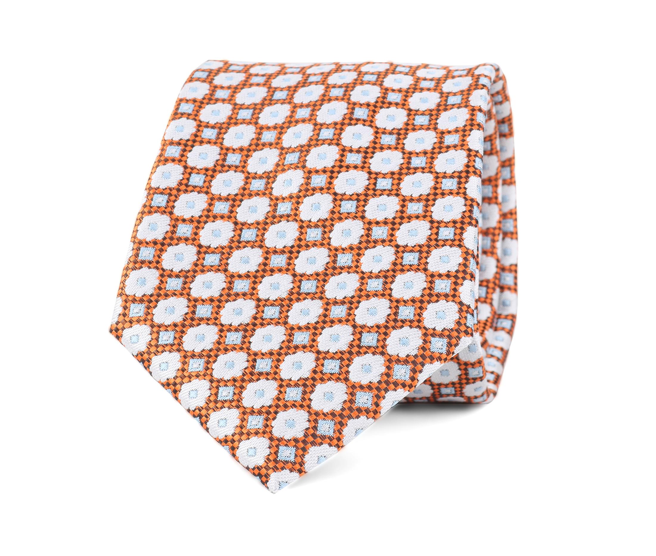 Krawatte Seide Blume Orange 9-17 foto 0