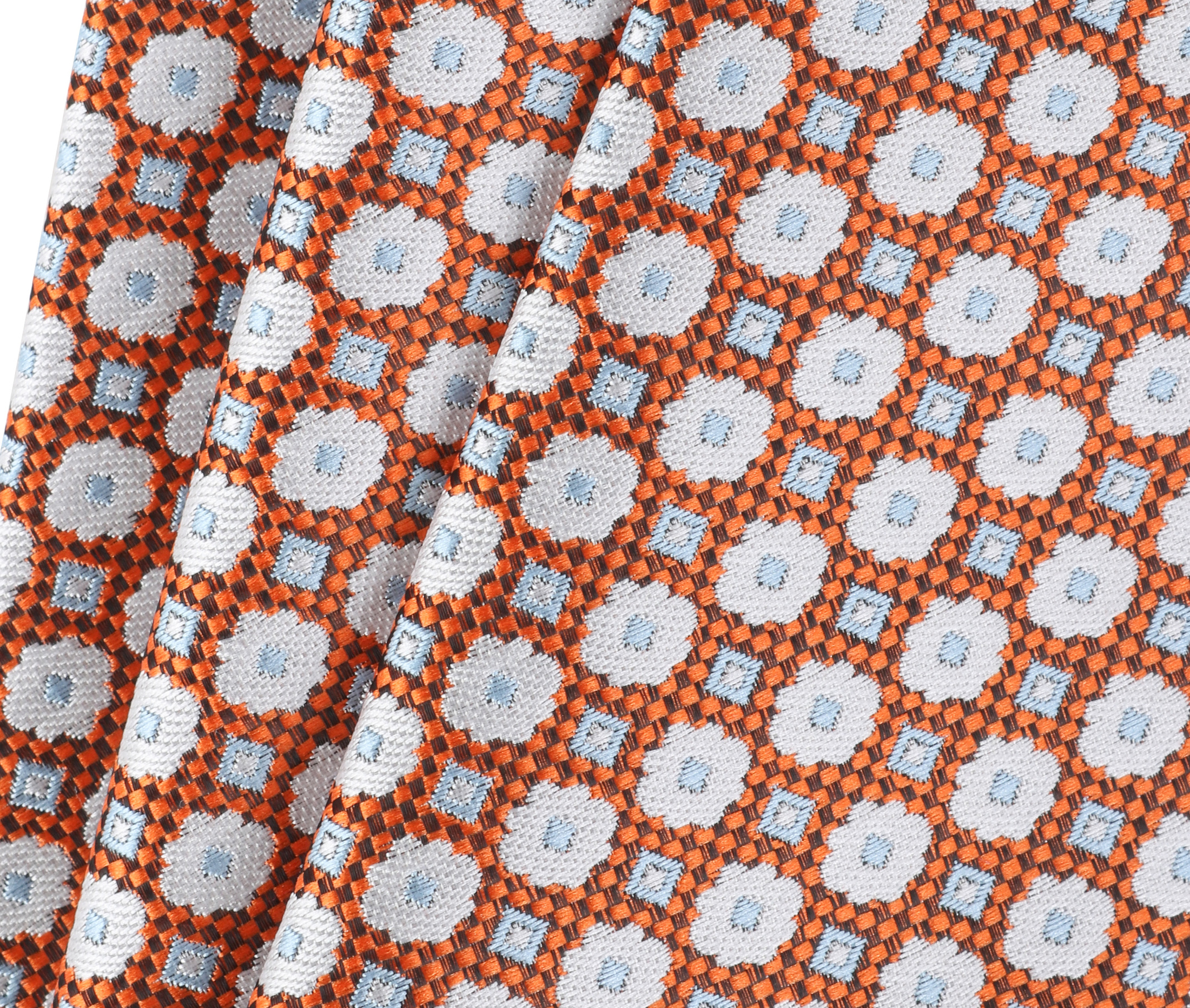 Krawatte Seide Blume Orange 9-17 foto 2