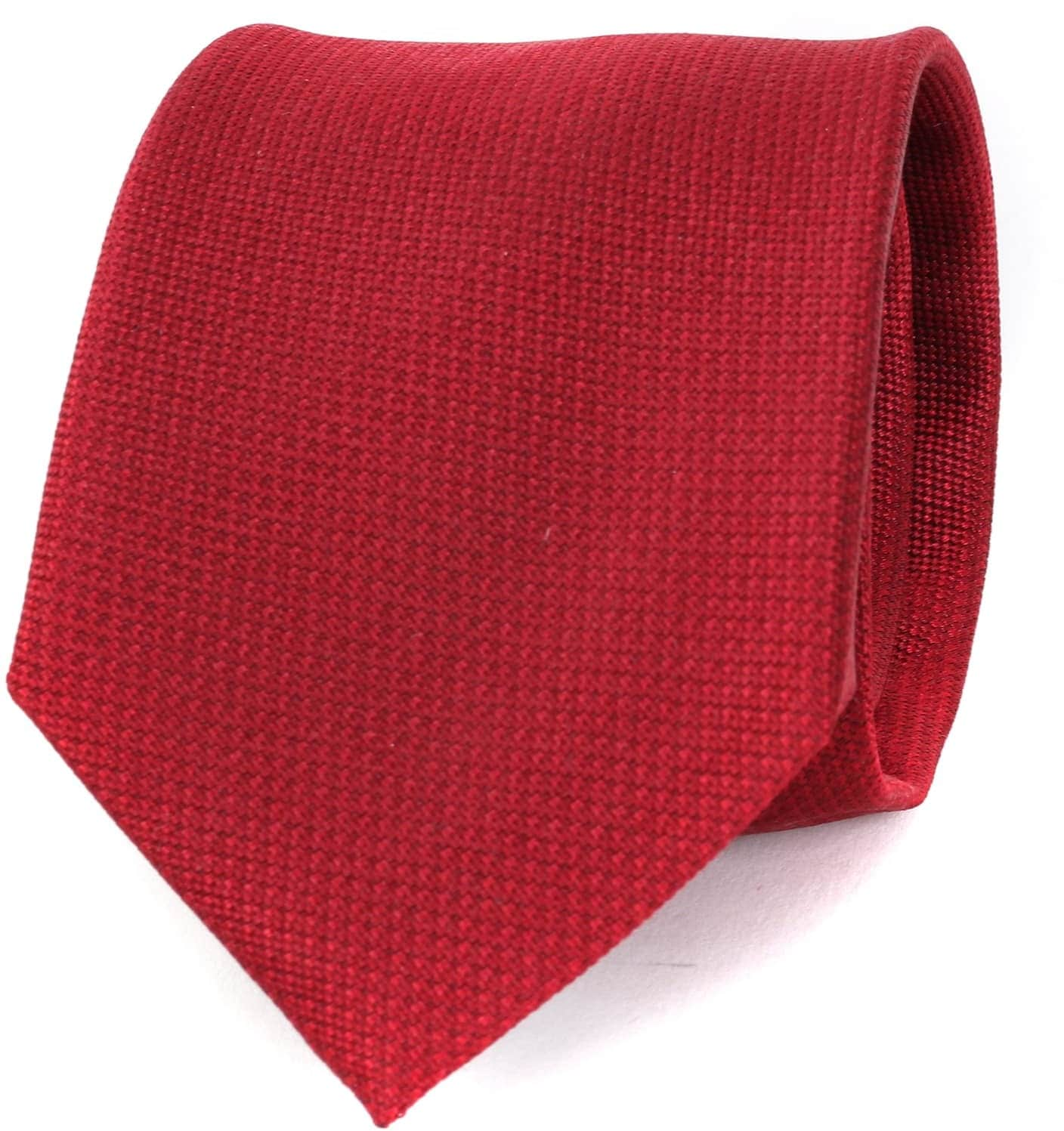 Krawatte Seide Bordeaux Motiv foto 0