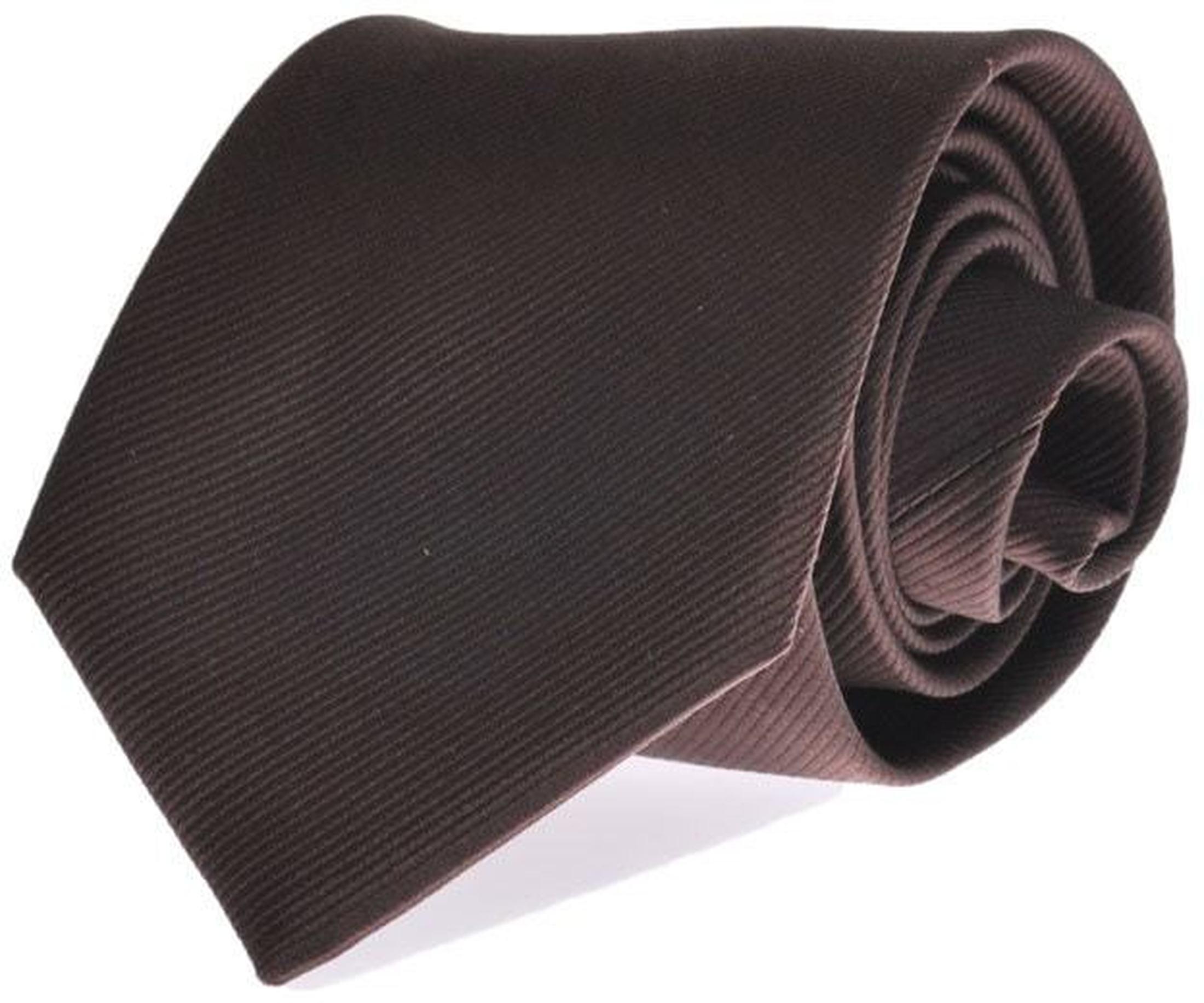 Krawatte Seide Braun Uni F45 foto 0