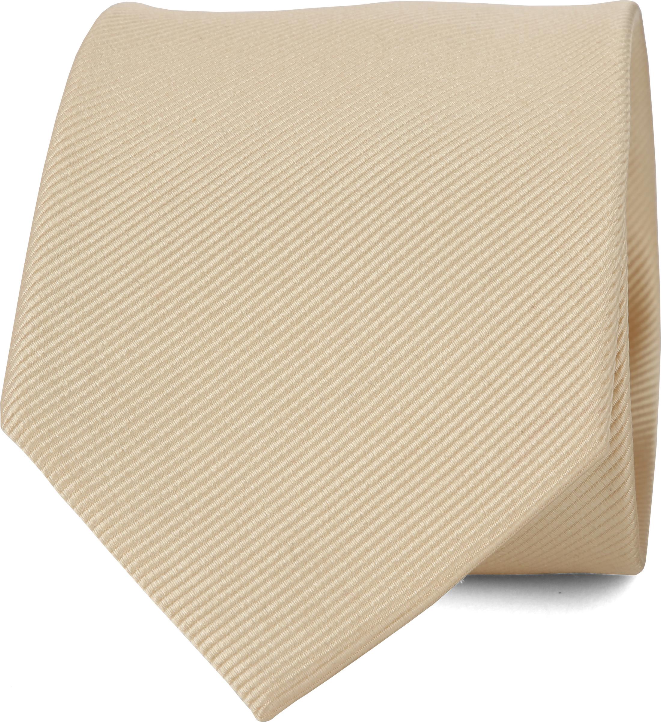 Krawatte Seide Champagner Uni F10 foto 0