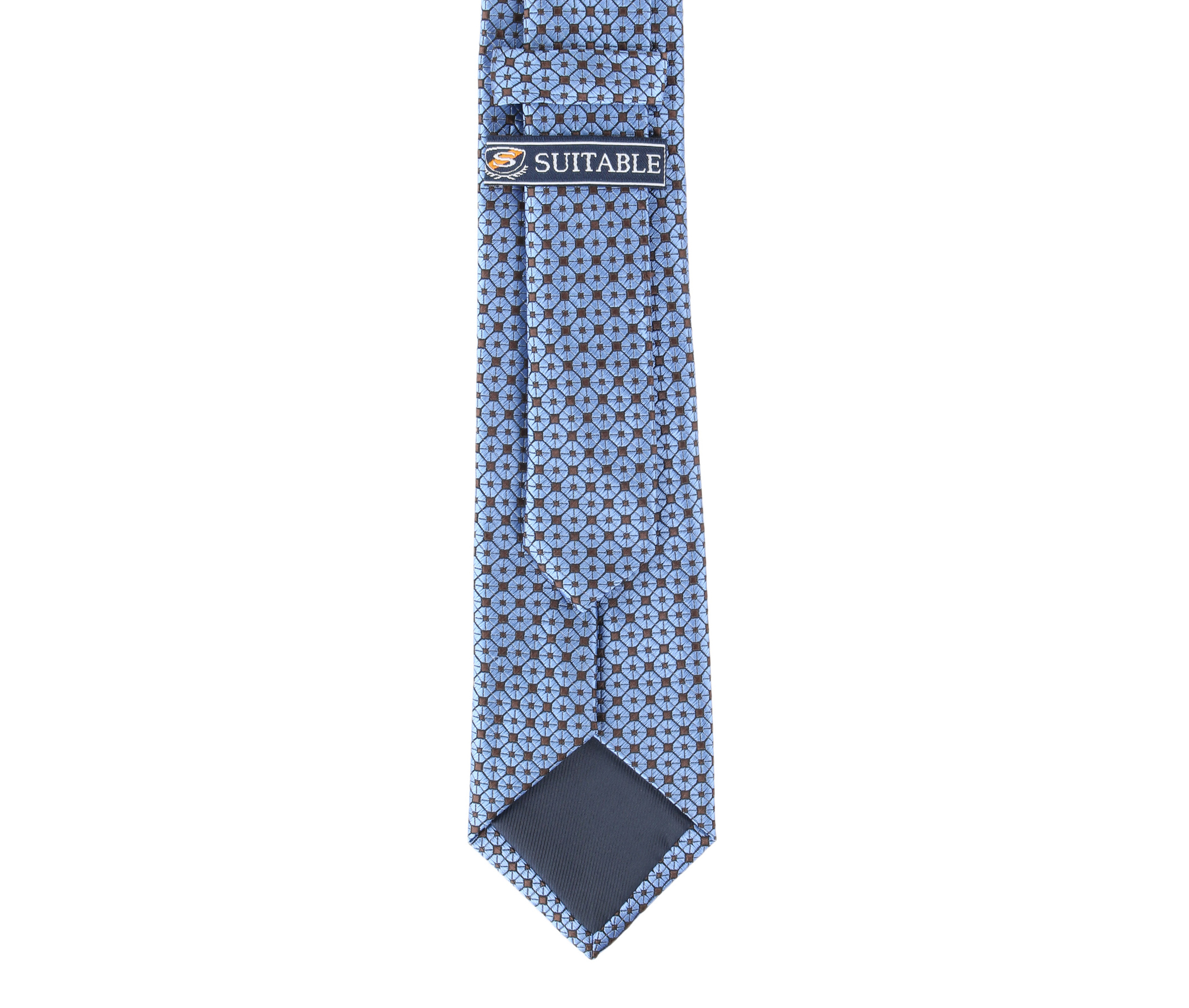 Krawatte Seide Dessin Blau 9-17 foto 3