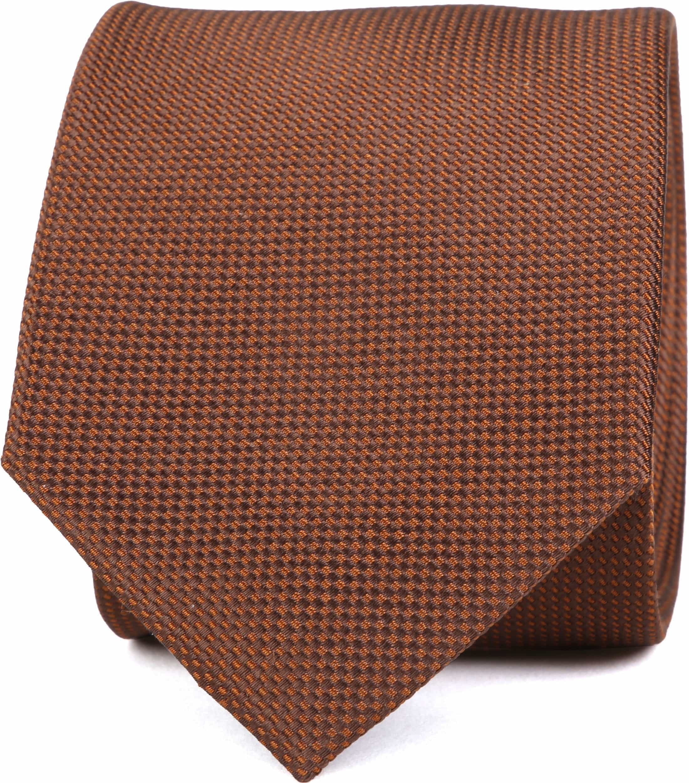 Krawatte Seide Dessin Braun foto 0