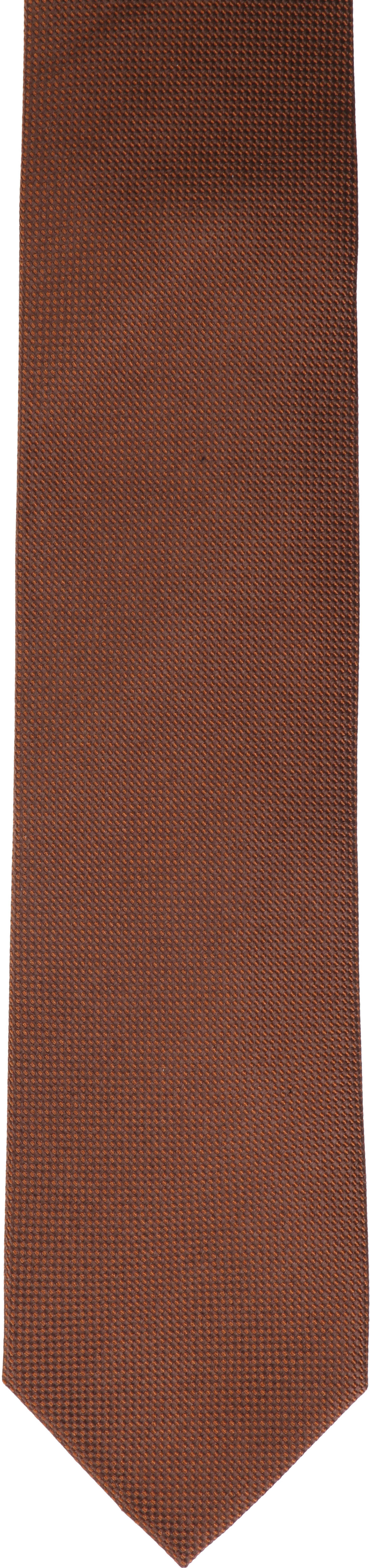 Krawatte Seide Dessin Braun foto 1