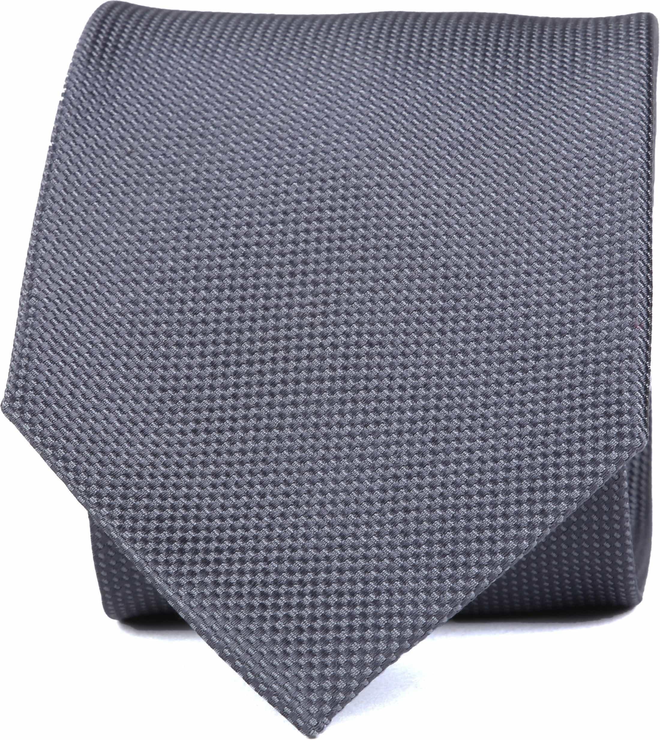 Krawatte Seide Dessin Grau foto 0