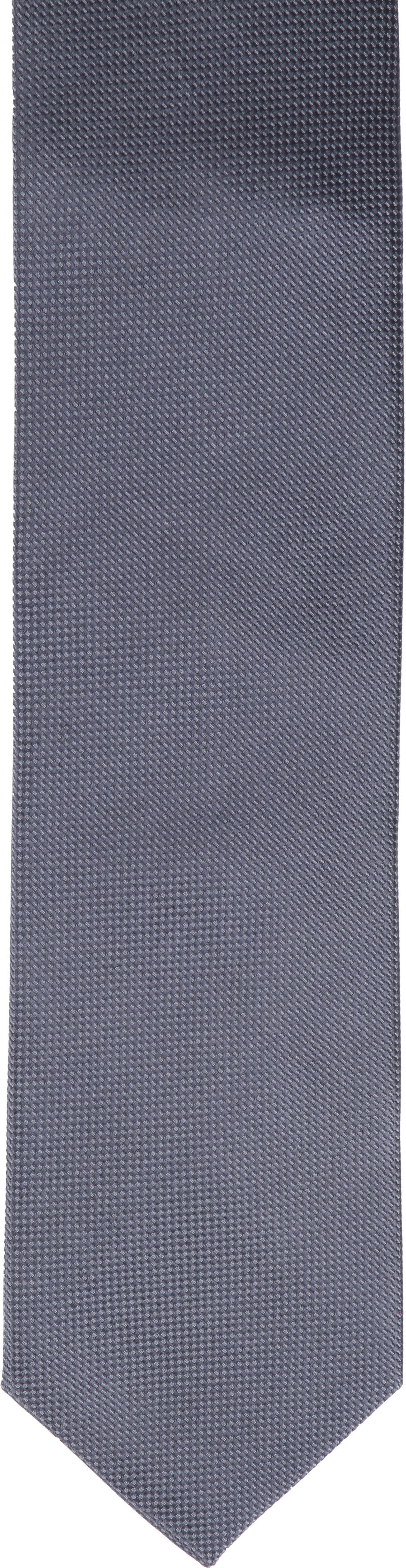 Krawatte Seide Dessin Grau foto 1