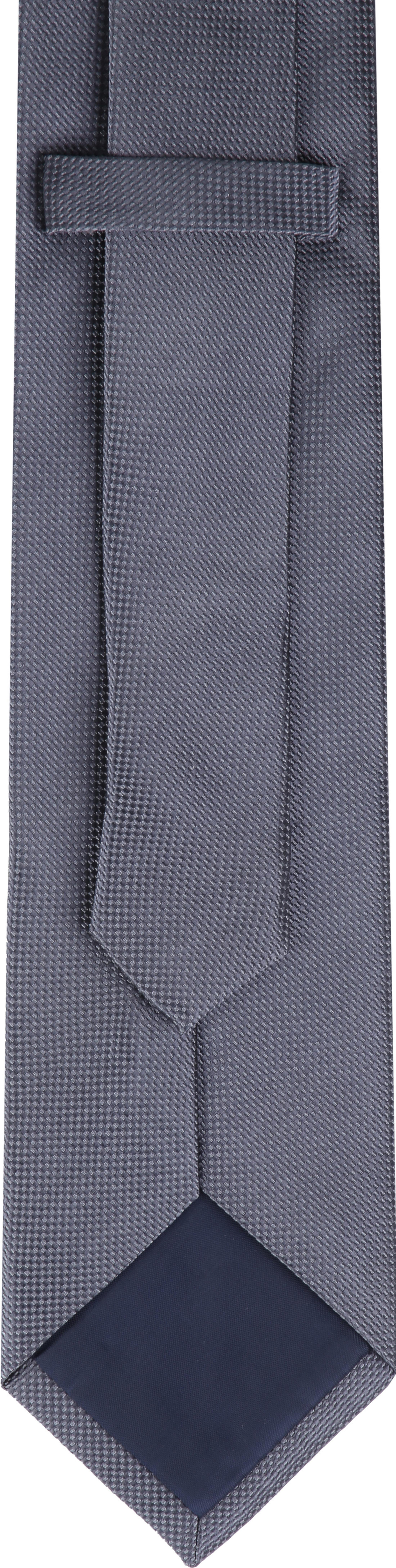 Krawatte Seide Dessin Grau foto 2