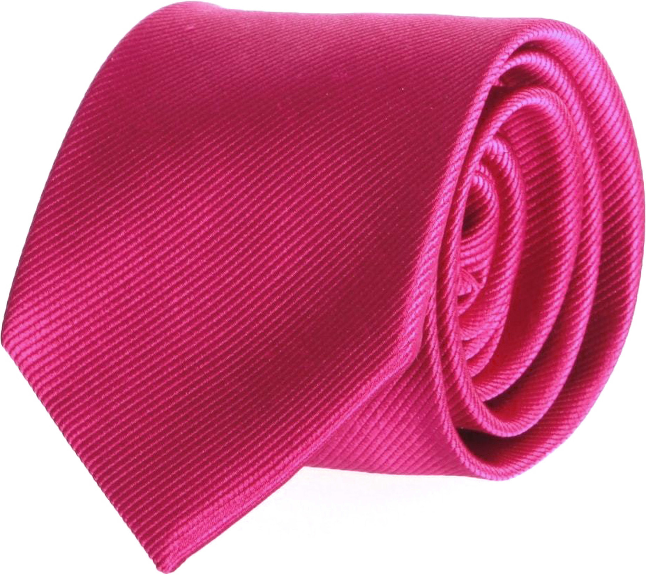 Krawatte Seide Dunkel Fuchsia Uni F66