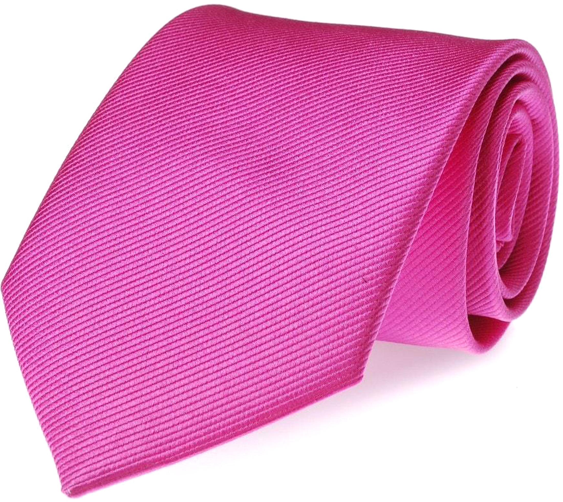 Krawatte Seide Fuchsia Uni F21 foto 0