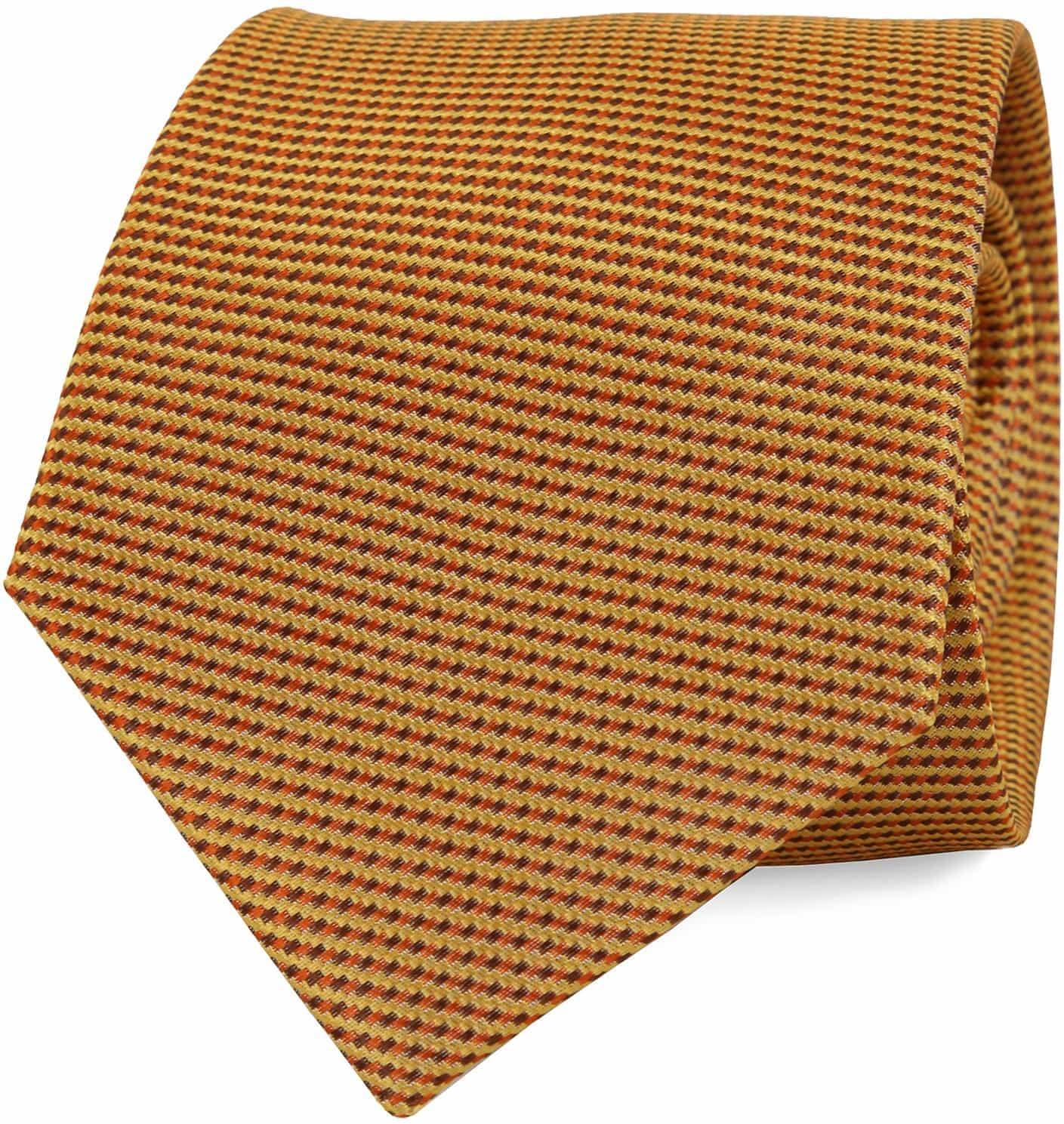 Krawatte Seide Gold Motiv foto 0