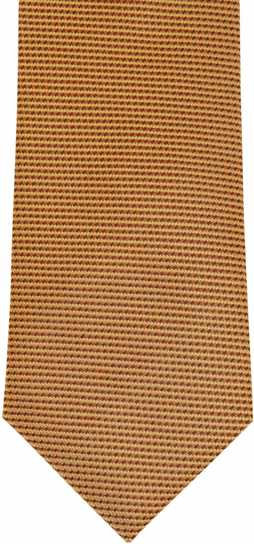 Krawatte Seide Gold Motiv foto 2