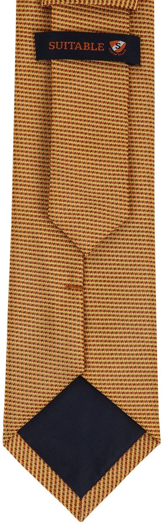 Krawatte Seide Gold Motiv foto 3