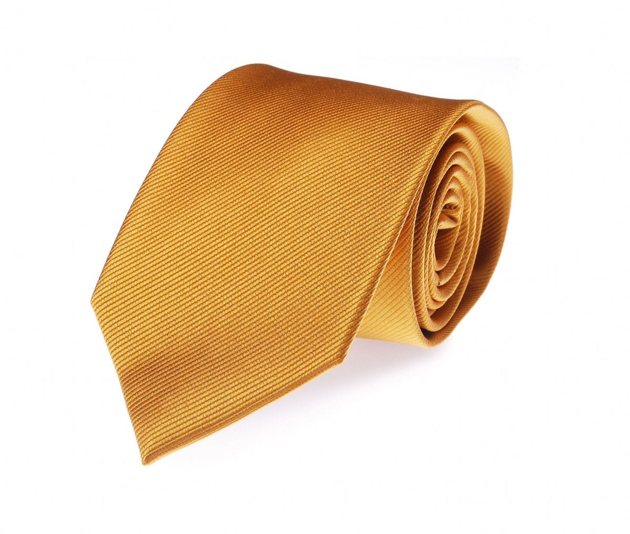 Krawatte Seide Gold Uni F13 foto 0