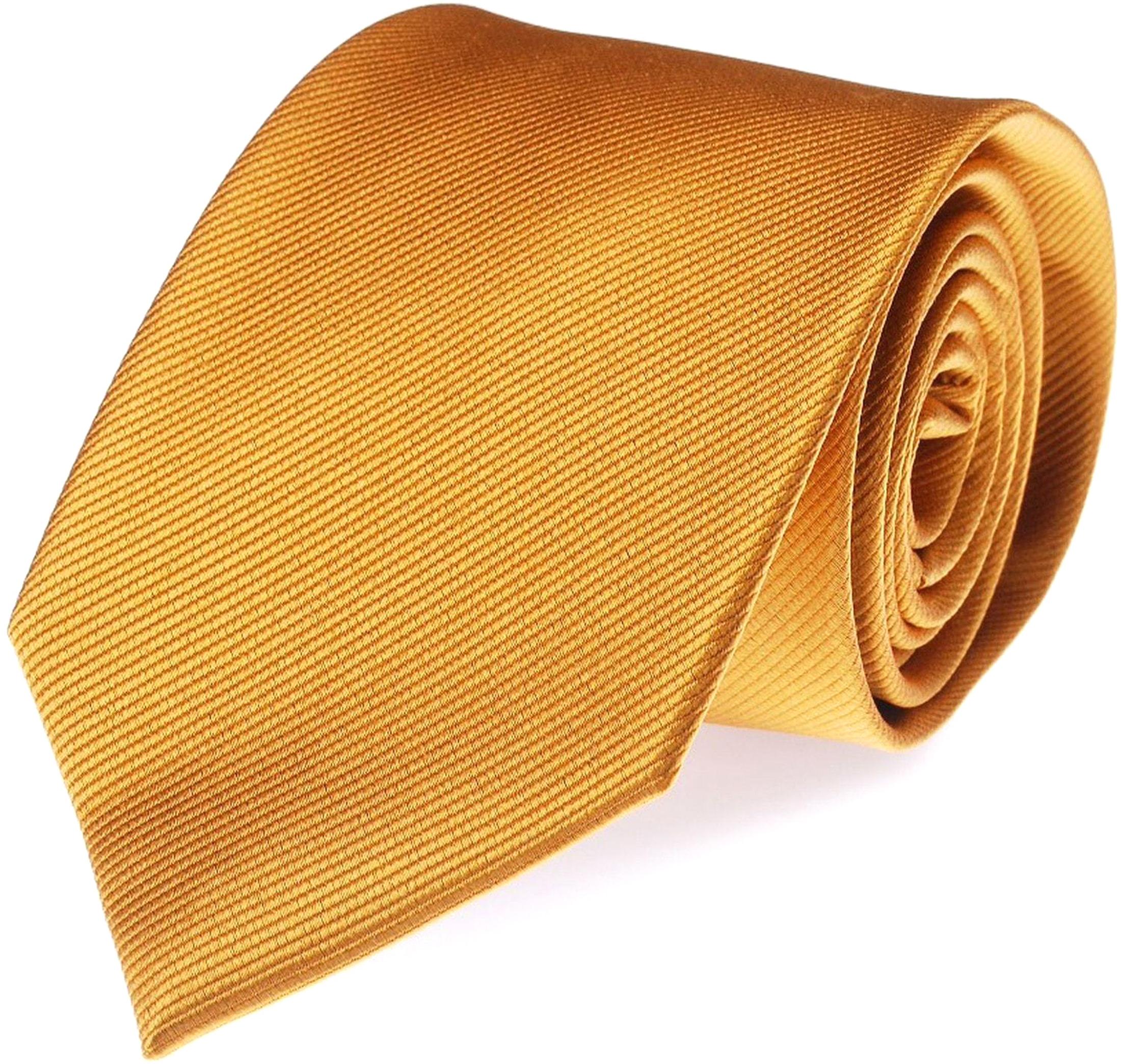 Krawatte Seide Gold Uni F13