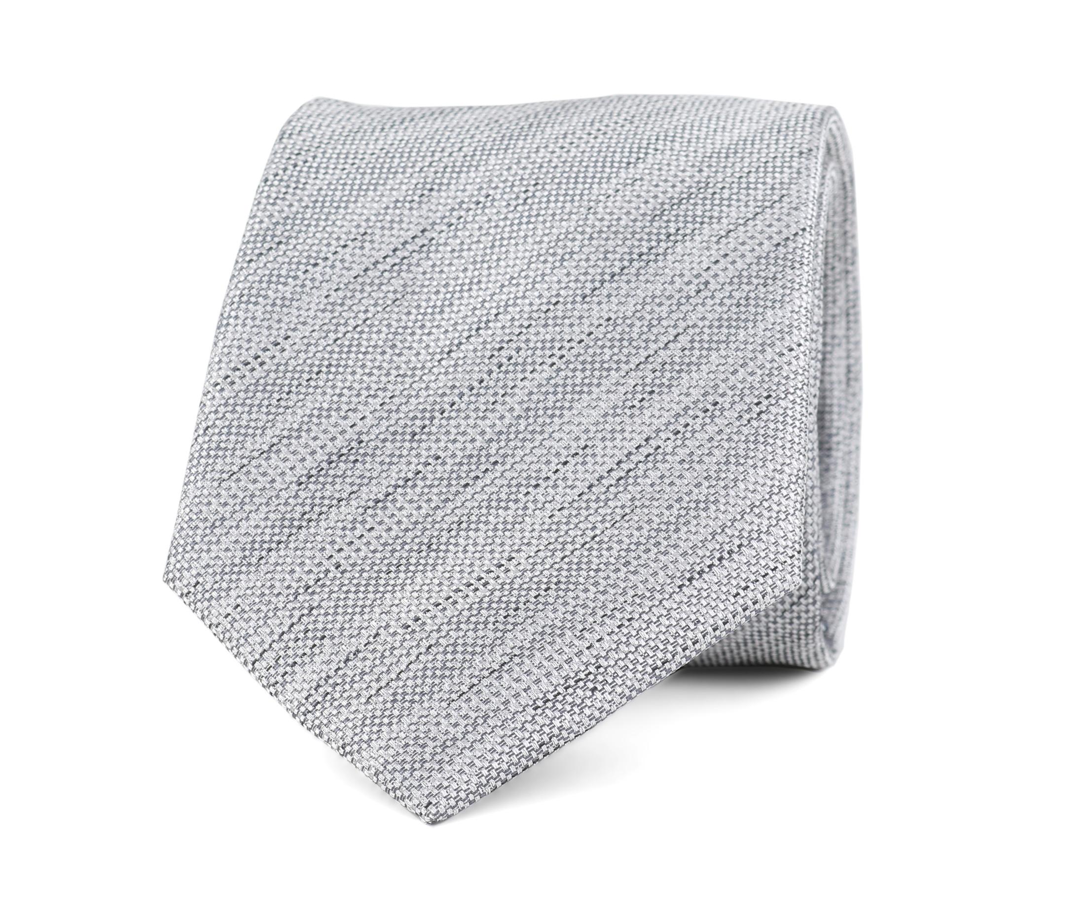 Krawatte Seide Grau 9-17 foto 0