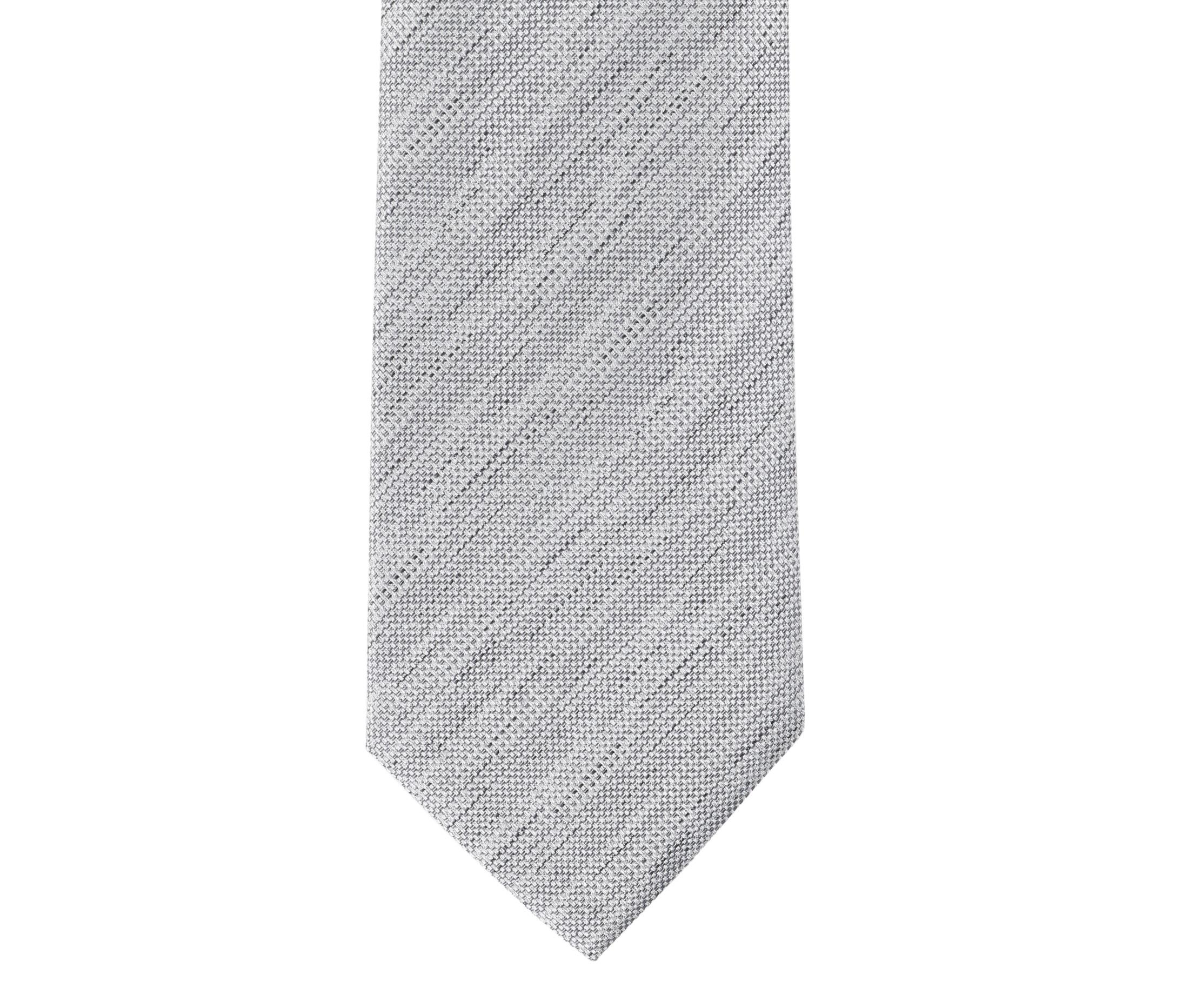 Krawatte Seide Grau 9-17 foto 1
