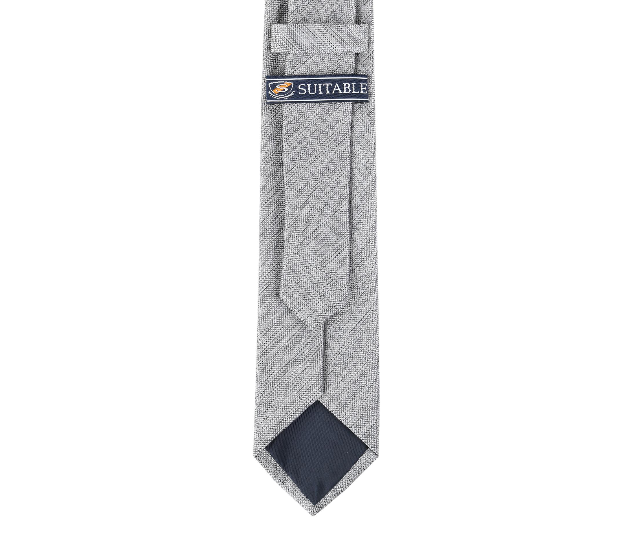 Krawatte Seide Grau 9-17 foto 3