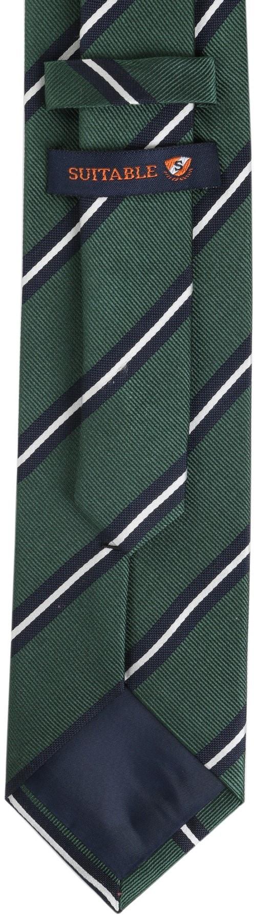 Krawatte Seide Grün Streifen foto 3