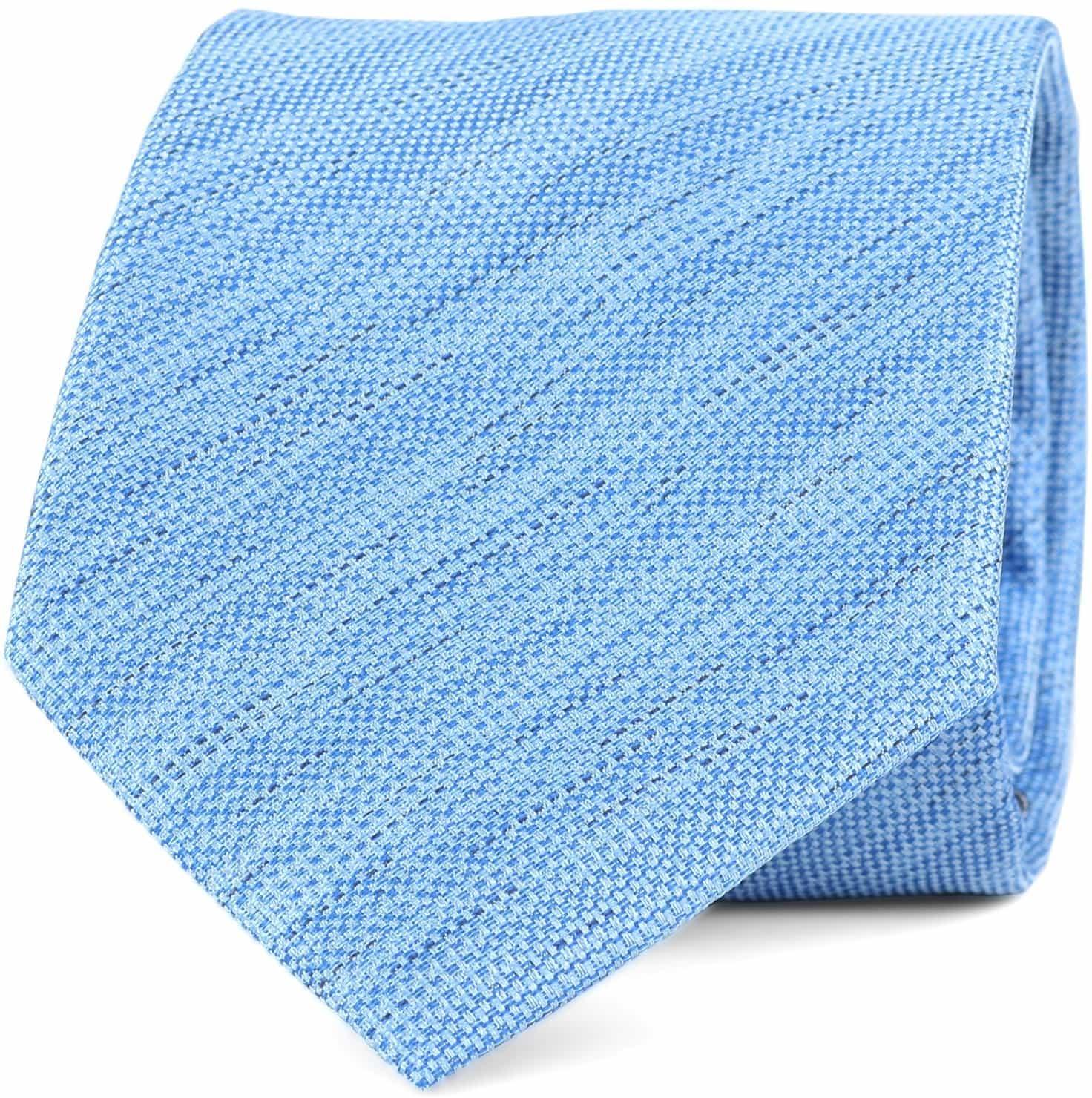 Krawatte Seide Hellblau 9-17 foto 0