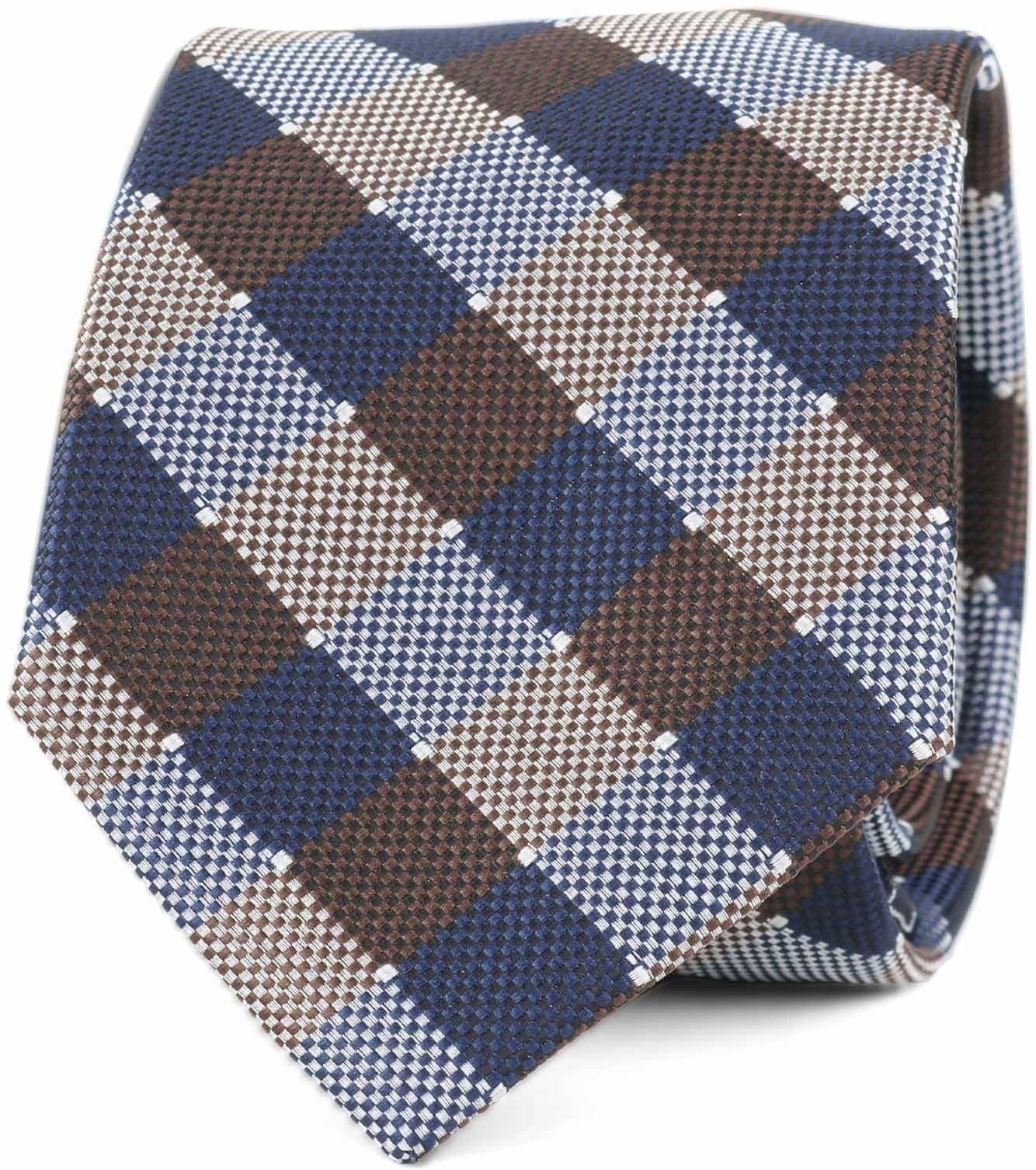 Krawatte Seide Karo 9-17 foto 0