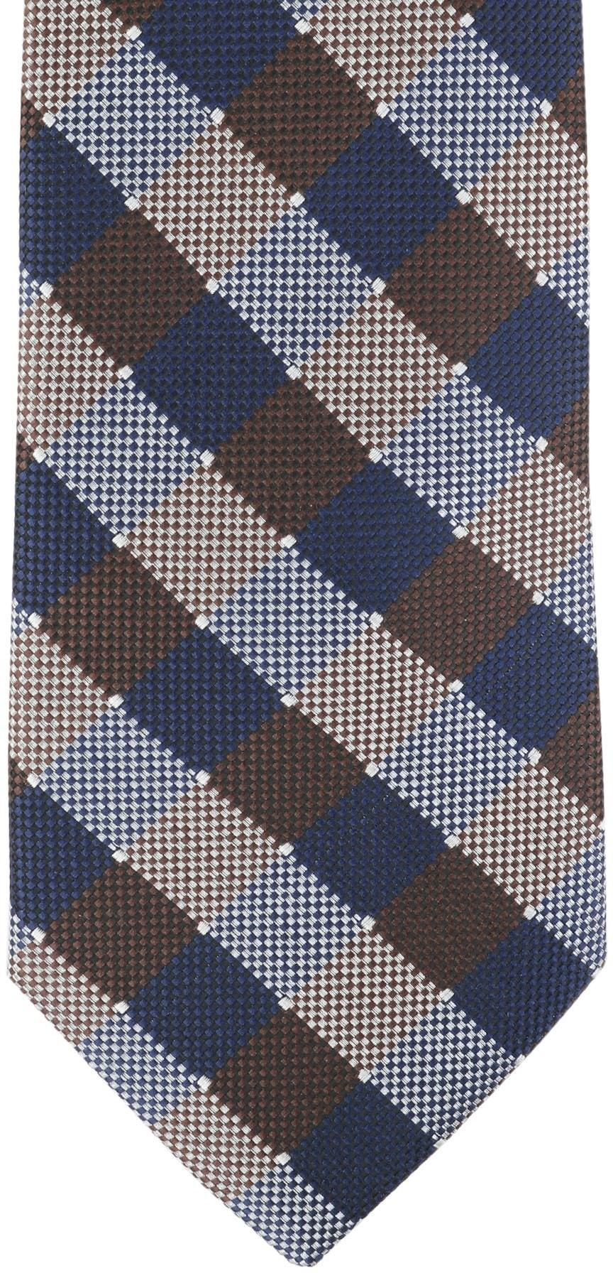 Krawatte Seide Karo 9-17 foto 1