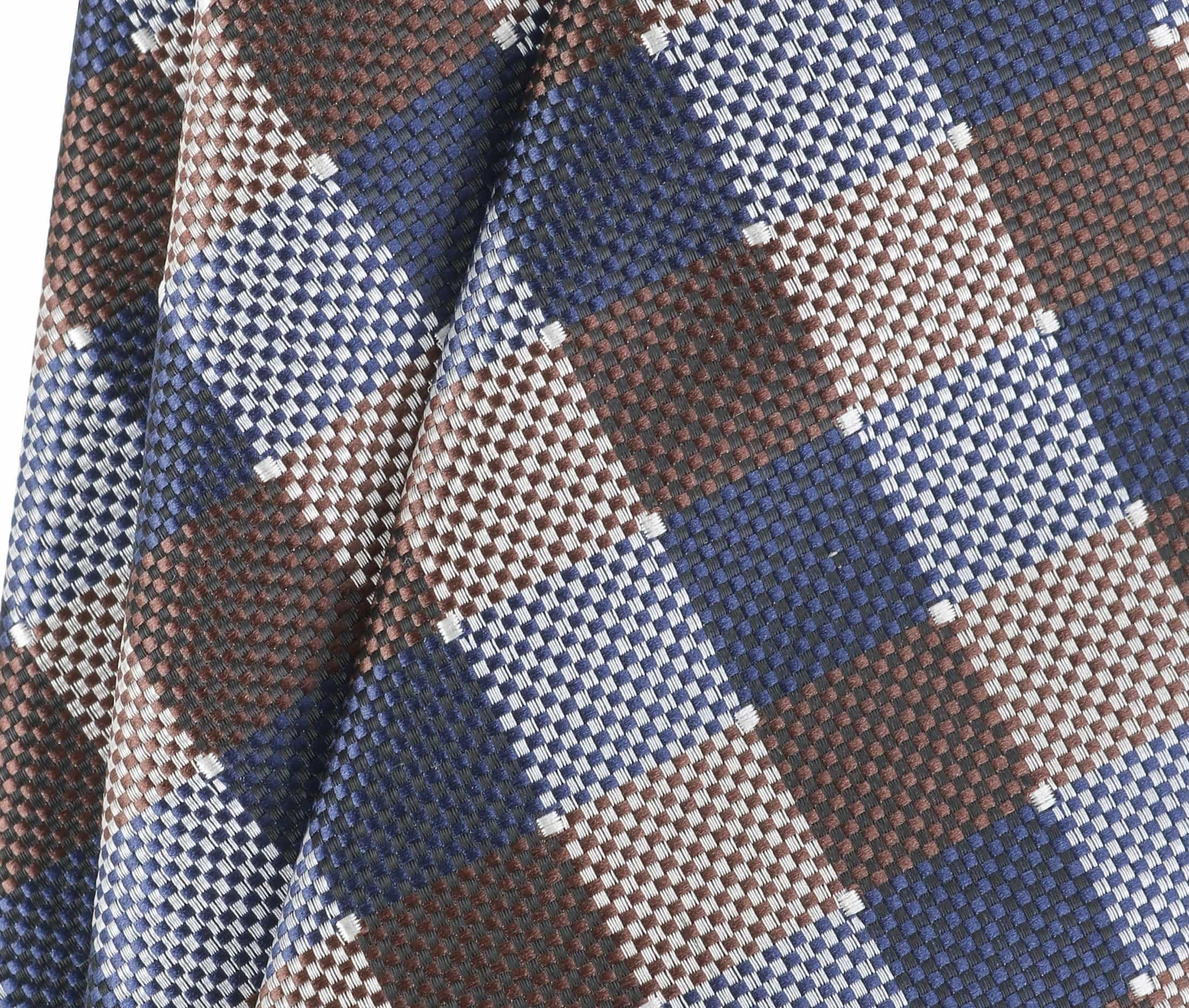 Krawatte Seide Karo 9-17 foto 2