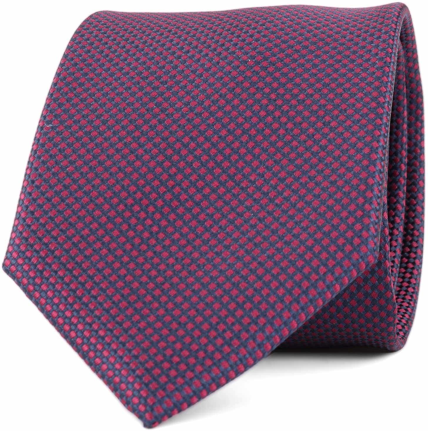 Krawatte Seide Karo Bordeaux 9-17 foto 0