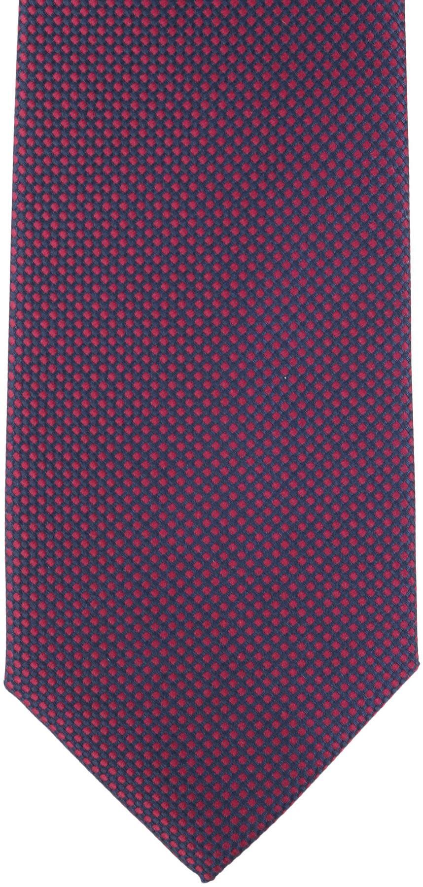 Krawatte Seide Karo Bordeaux 9-17 foto 1