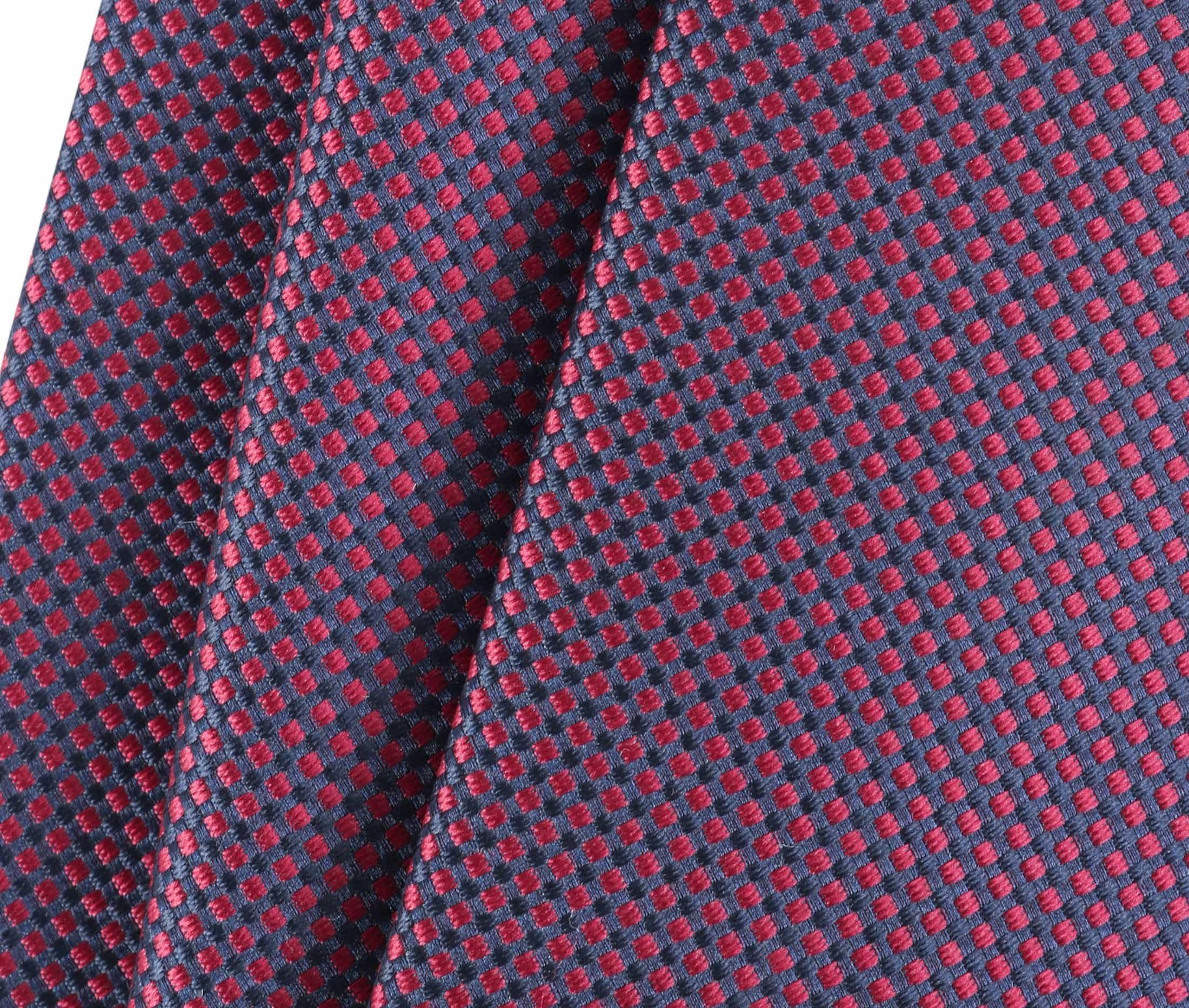 Krawatte Seide Karo Bordeaux 9-17 foto 2