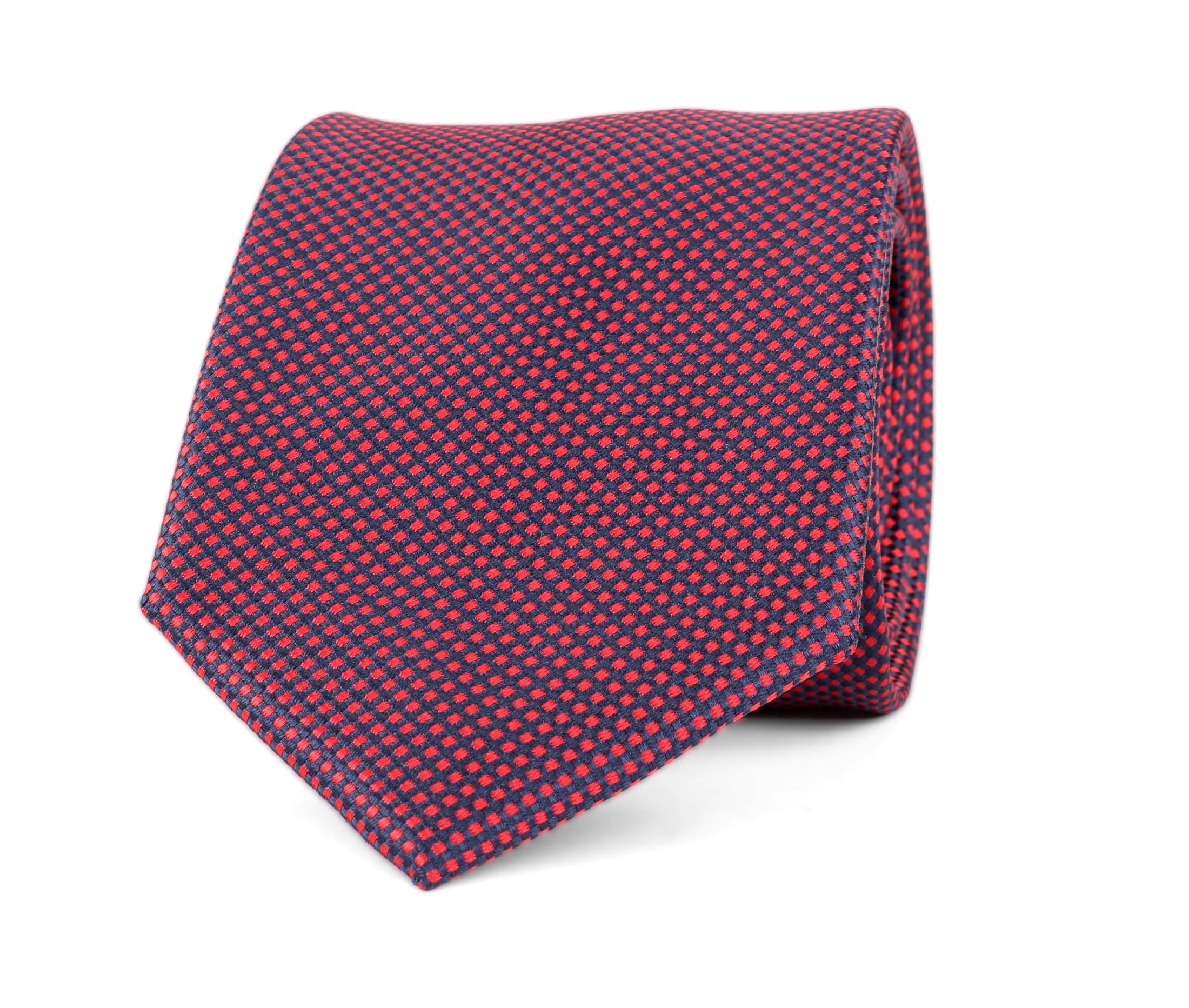 Krawatte Seide Karo Rot 9-17 foto 0