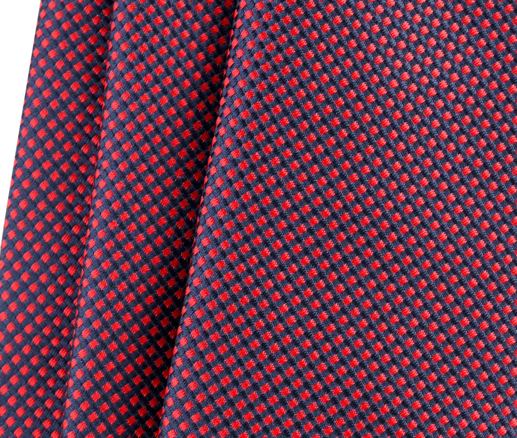 Krawatte Seide Karo Rot 9-17 foto 2