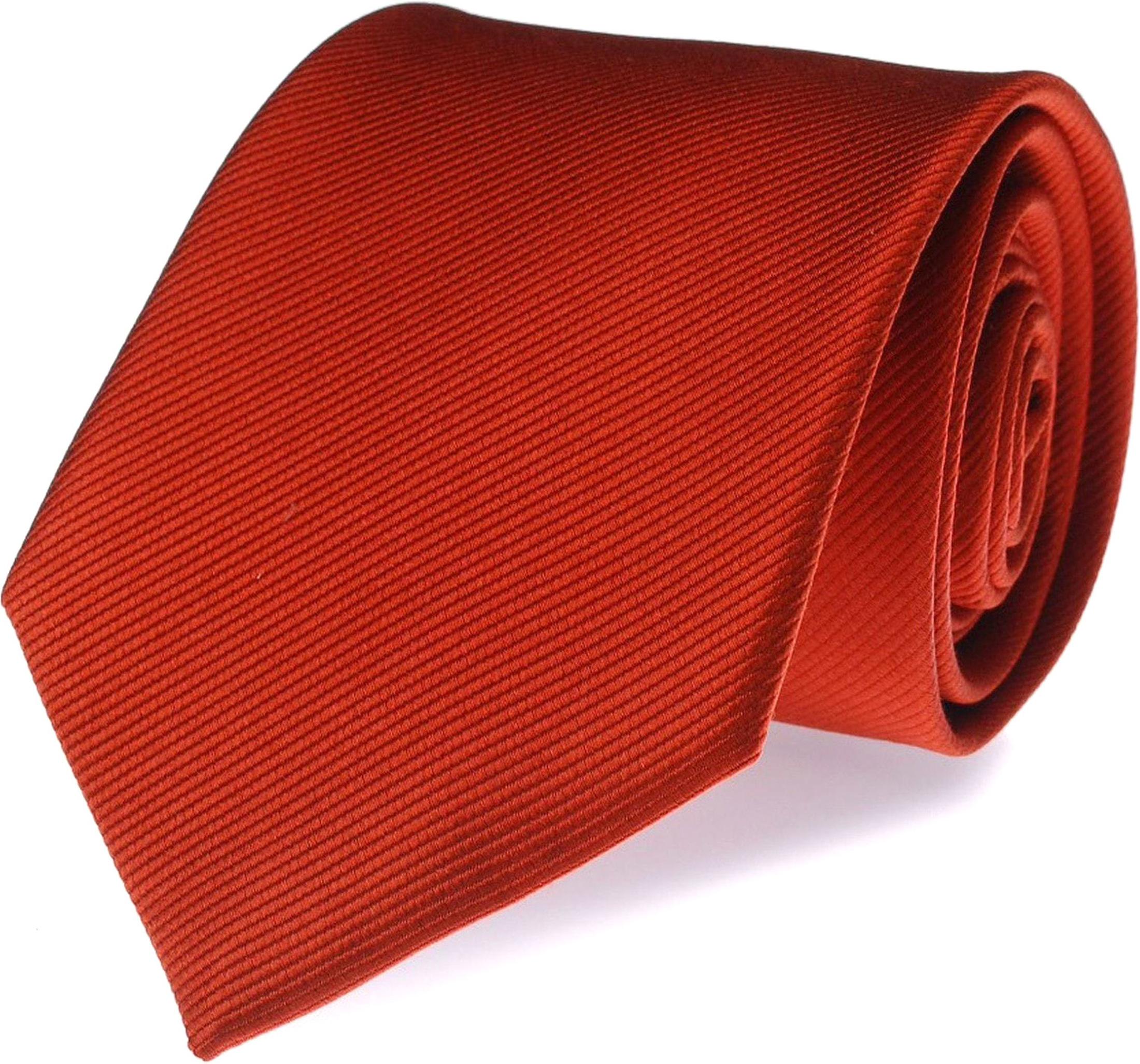 Krawatte Seide Knallrot Uni F34 foto 0