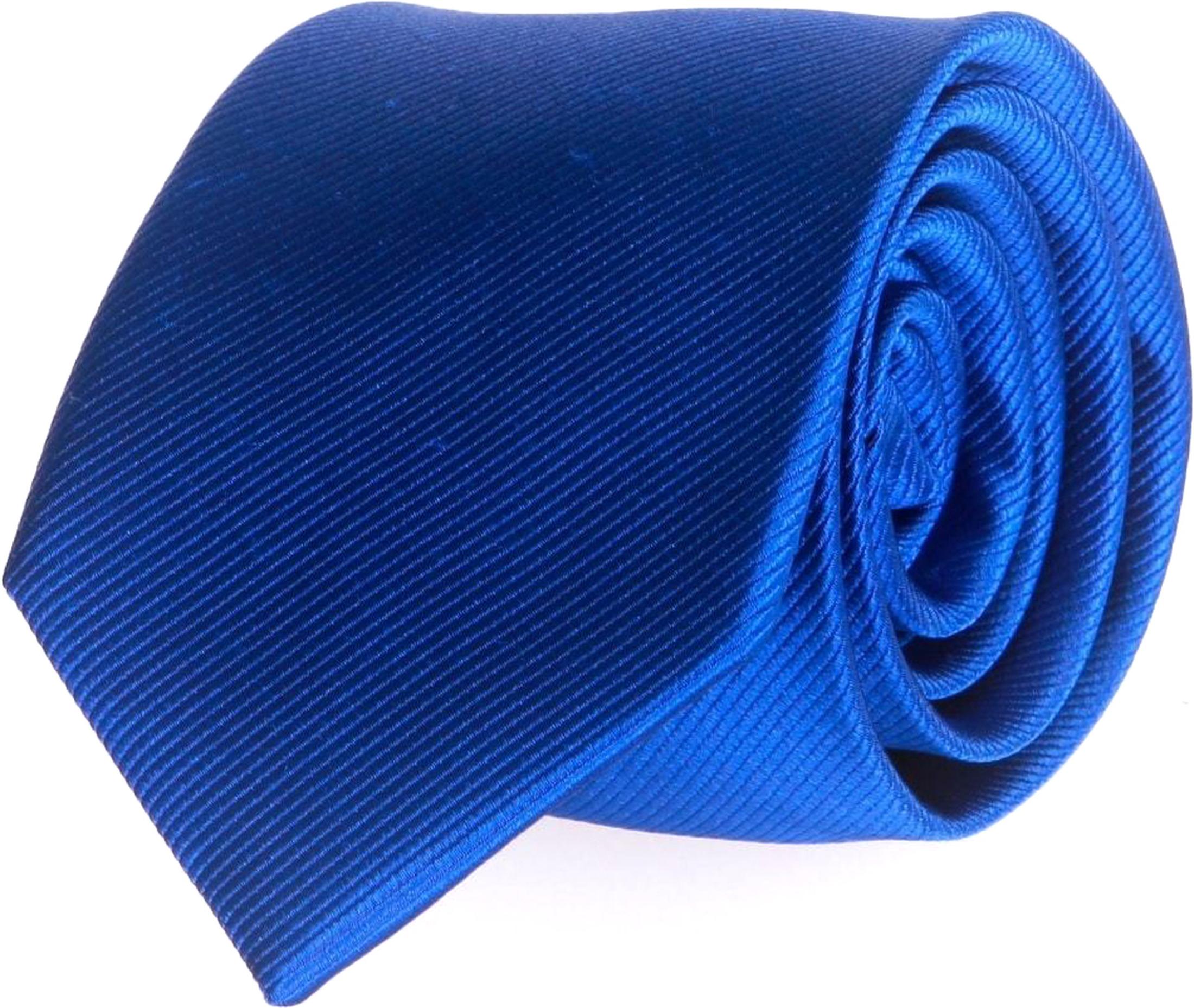 Krawatte Seide Kobaltblau Uni F65 foto 0