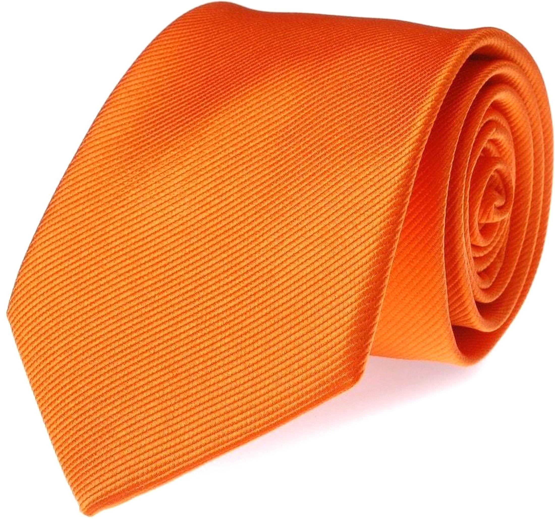 Krawatte Seide Orange Uni F01 Foto 0