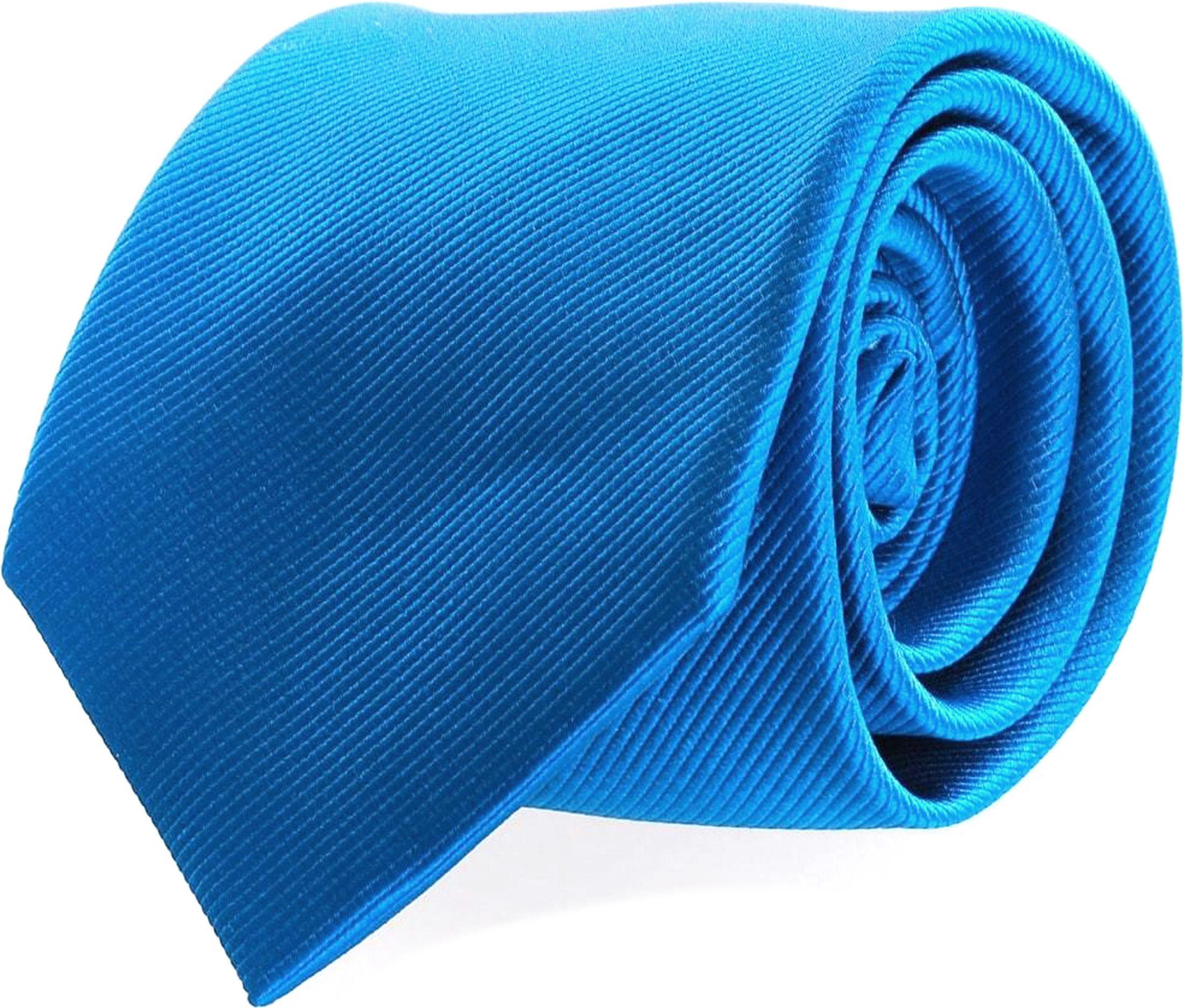 Krawatte Seide Ozeanblau Uni F32