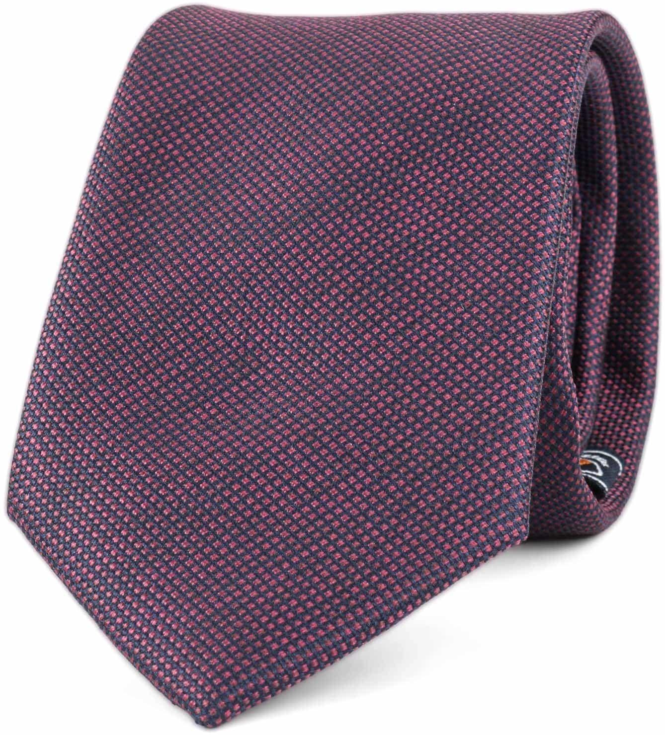 Krawatte Seide Pinpoint Bordeaux 9-17 foto 0