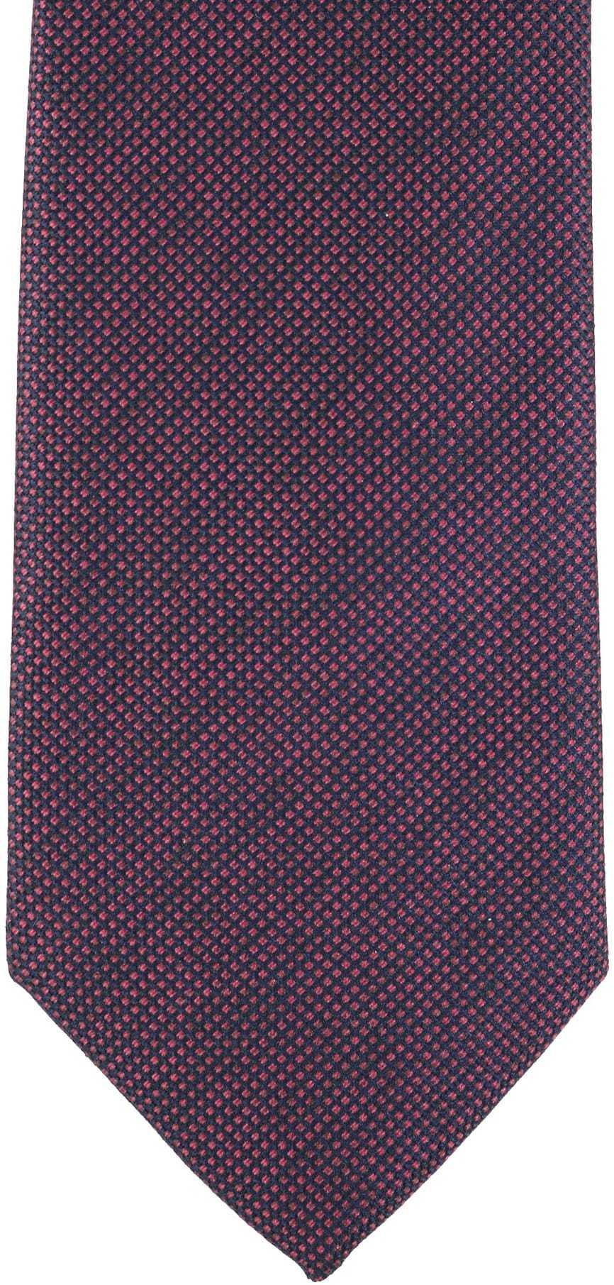 Krawatte Seide Pinpoint Bordeaux 9-17 foto 1