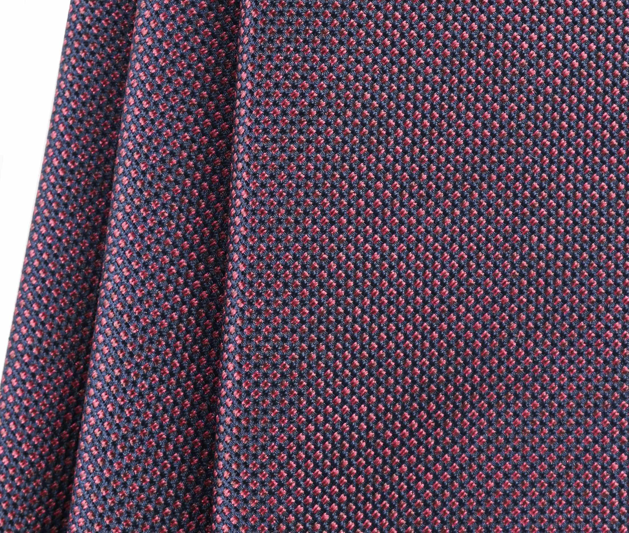 Krawatte Seide Pinpoint Bordeaux 9-17 foto 2