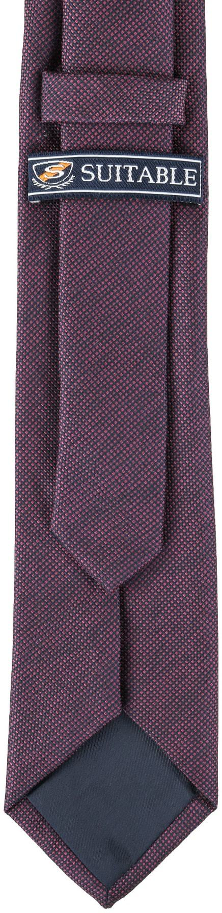 Krawatte Seide Pinpoint Bordeaux 9-17 foto 3