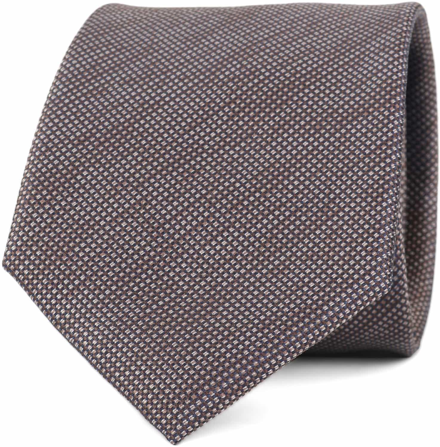 Krawatte Seide Pinpoint Braun 9-17 foto 0