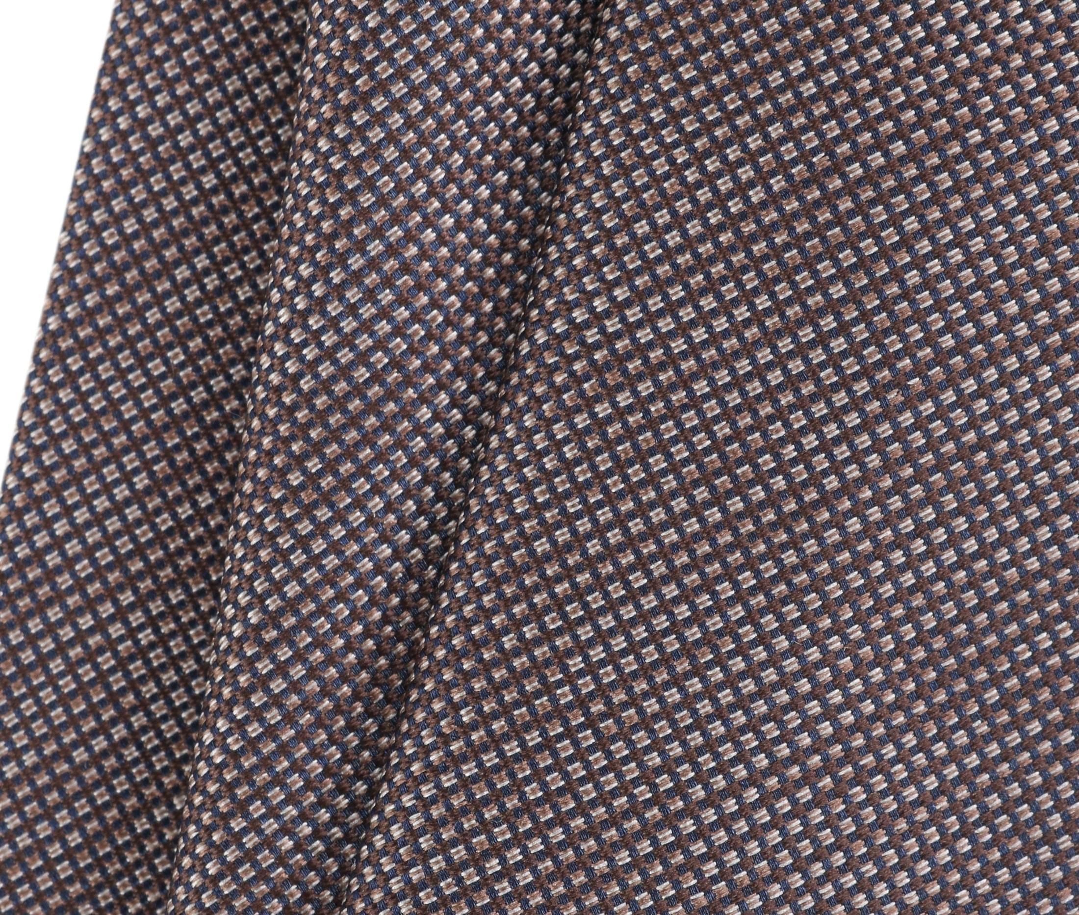 Krawatte Seide Pinpoint Braun 9-17 foto 2