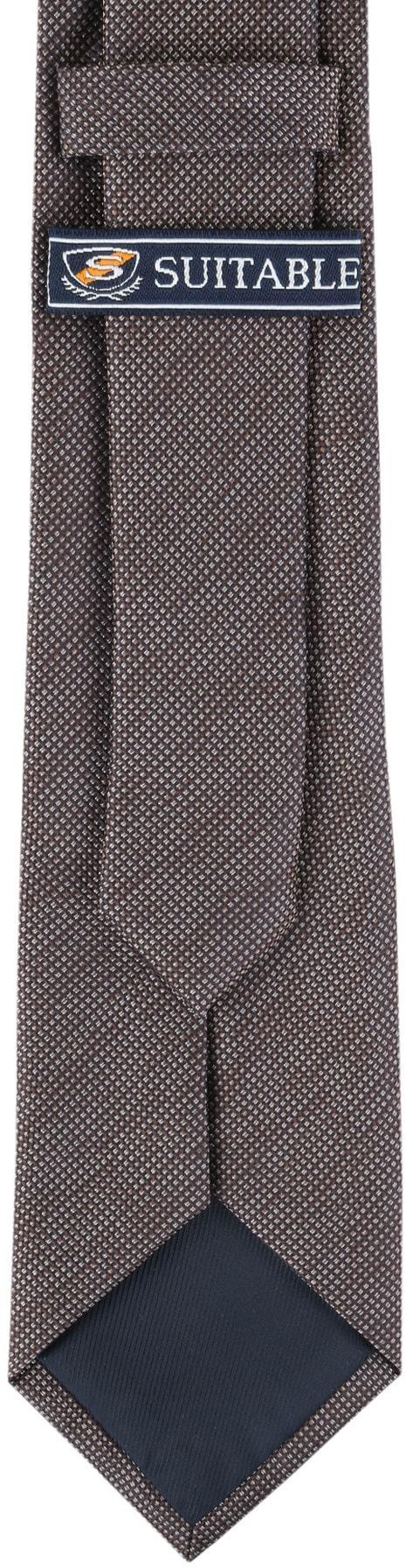 Krawatte Seide Pinpoint Braun 9-17 foto 3